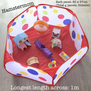 Colourful Foldable Playpen Playground for Hamsters & Small Animals