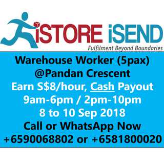 Part-time Warehouse Assistant