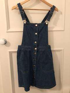 H&M Denim Overall Skirt - Size EU 38
