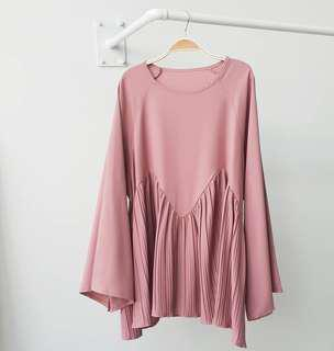 Pleated Blouse Dusty Pink #mcsfashion