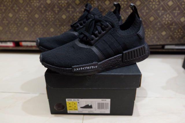 new arrive 1697c ca0d5 Adidas NMD R1 PK Japan Triple Black 10000% authentic