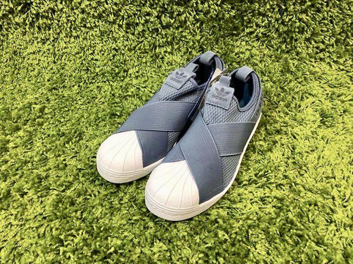 04a3081dffb11 Adidas Superstar Slip On - Grey Blue  CQ2384