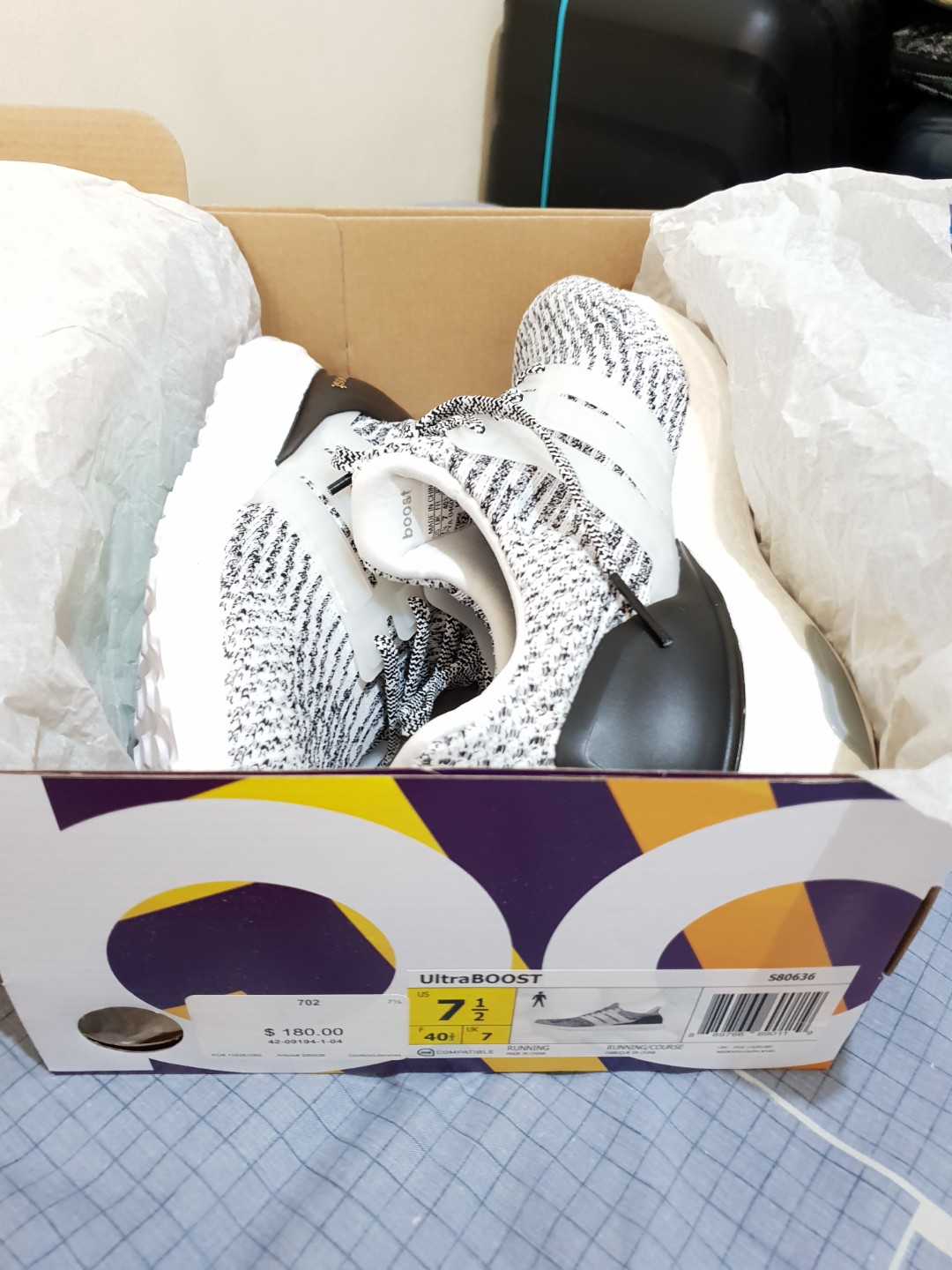 be876e1e6736b Adidas Ultraboost 3.0 Oreo S80636 Size 7.5 US Mens Authentic BNDS ...