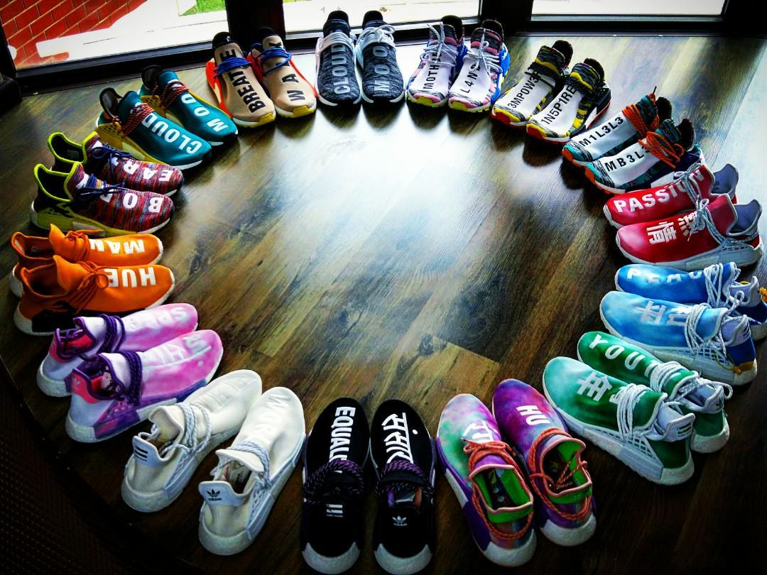 wholesale dealer 6f3b9 f54ae Adidas X Pharrell Williams Human Race NMD Trail Holi Black ...