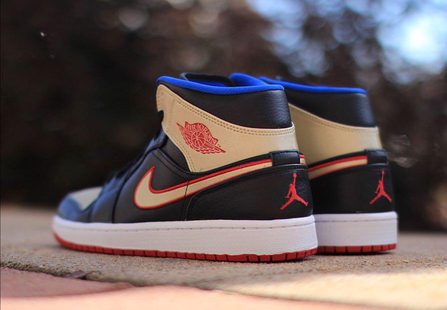 Air Jordan 1 (Black, Metallic Gold, Gym