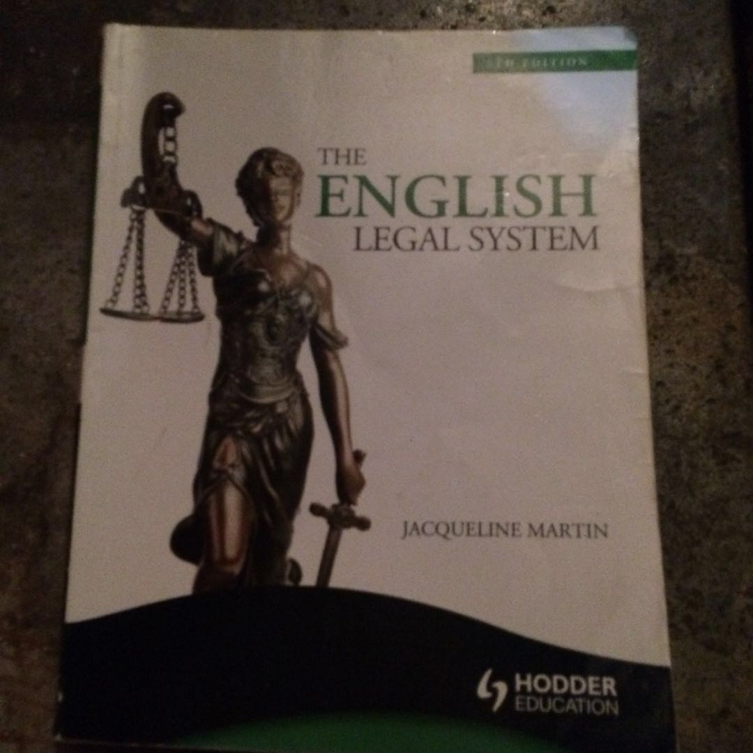 A-levels: English Legal System