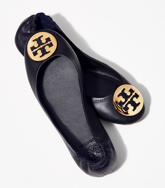 c3ed344f2 Authentic Tory Burch Minnie Travel Leather Ballet Flat Shoes