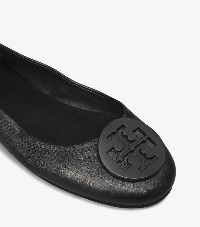 e8795f69e Authentic Tory Burch Minnie Travel Leather Ballet Flats Shoes ...