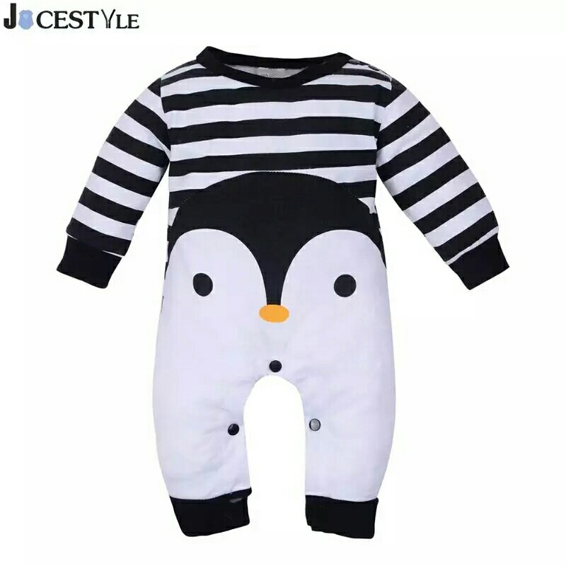 7f9b81a6c Baby Romper Spring Cotton Cartoon Penguin Style Boy Clothes Newborn ...