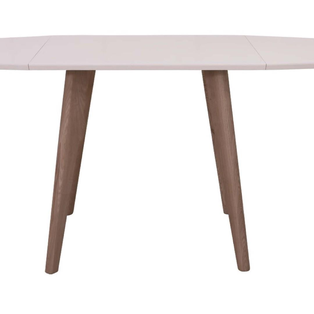 BONDI DINING TABLE - WHITE TABLE TOP WITH NATURE LEGS