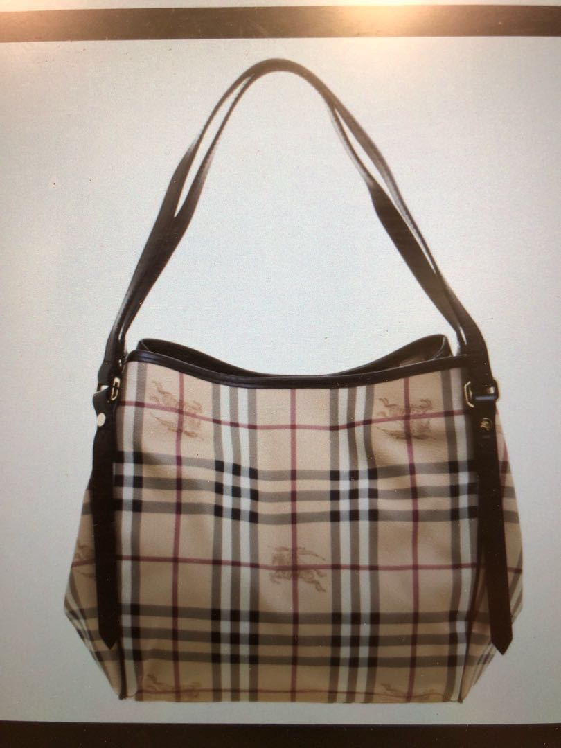 99435abc2686 Burberry haymarket small canterbury tote
