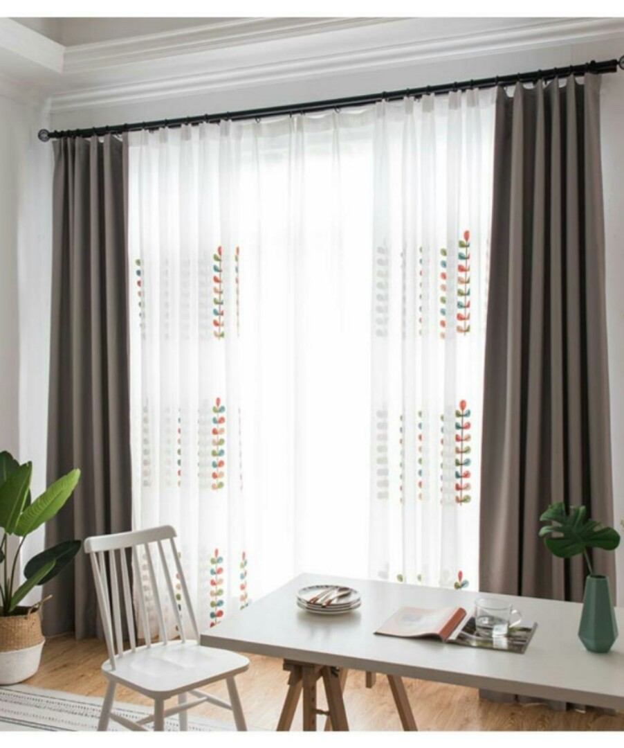 free mail] simple nordic curtain living room deco, furniture, homeCurtain For Home Deco #20