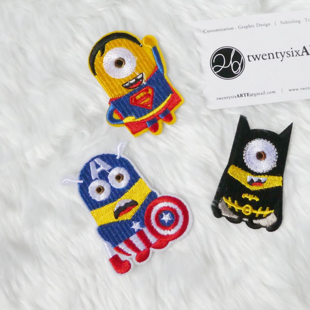 Iron On Patch | Avengers Minions, Design & Craft, Others on Carousell