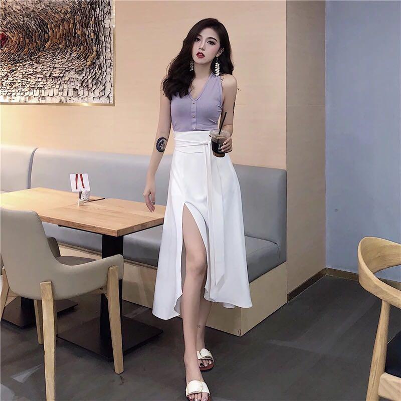 Korean Style Long Dress Women S Fashion Clothes Dresses Skirts