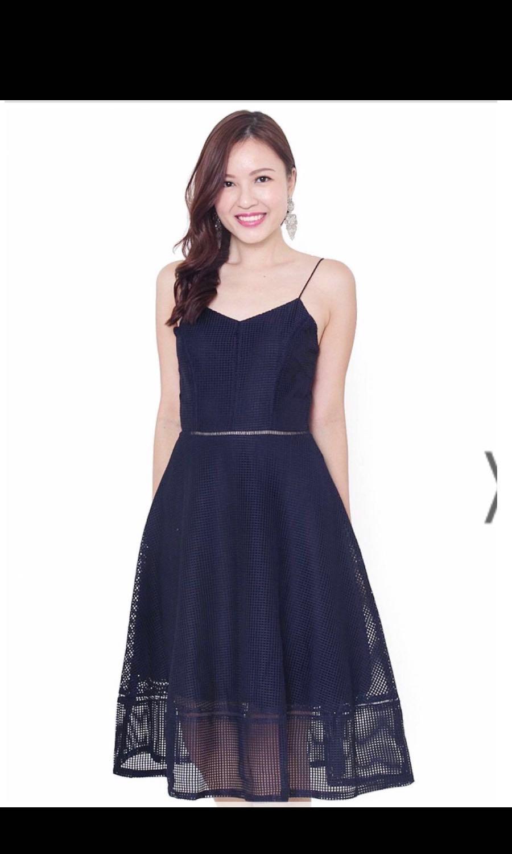 81cde2a2d306 Lace and ebony navy midi maxi dress