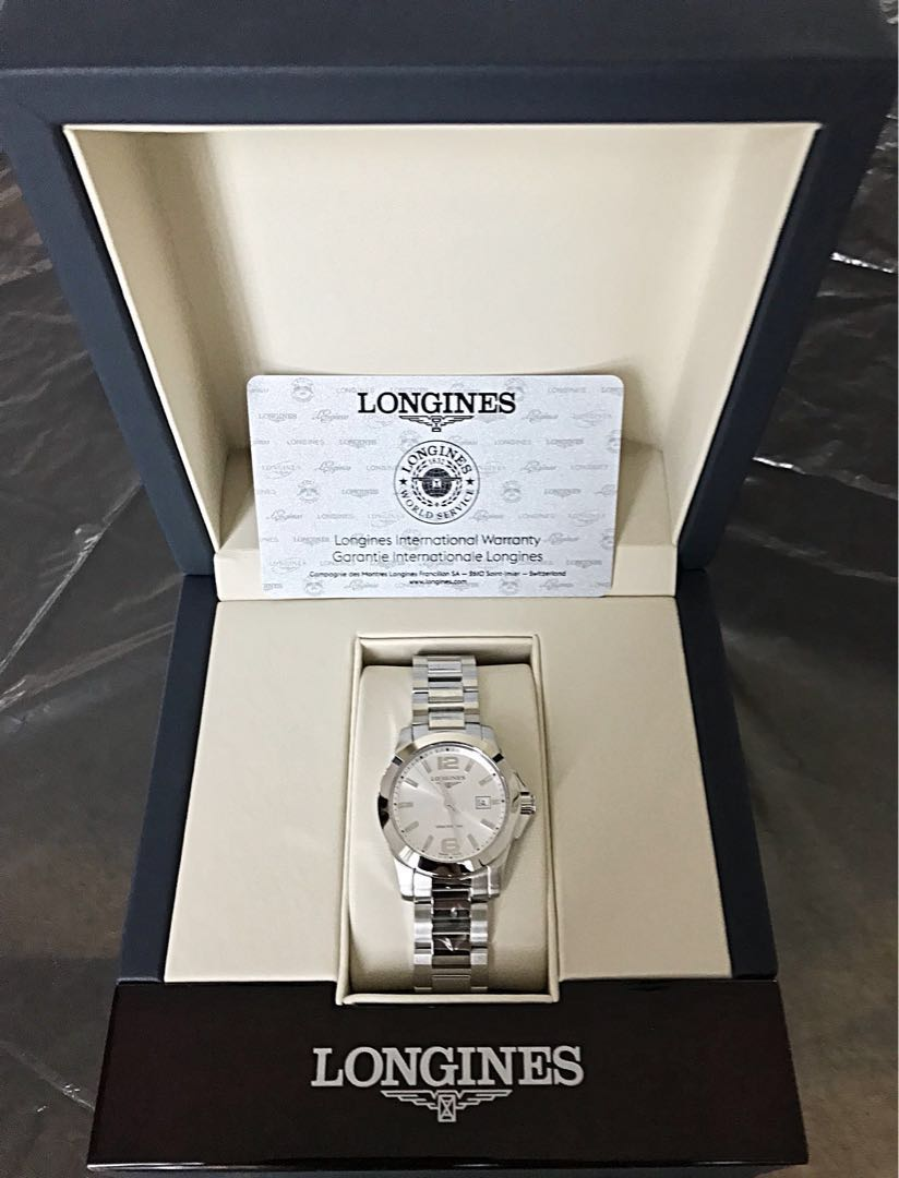 9aaccea2957 Longines Conquest Silver Dial Ladies Watch - L33764766 (must go ...