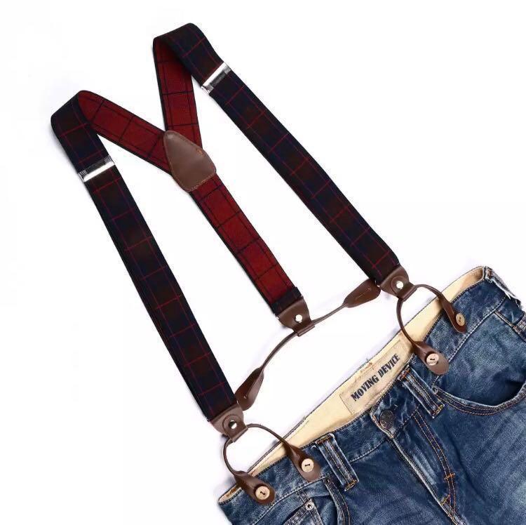29f55ac45 Men s Women s Unisex Suspenders 6 buttons Y back