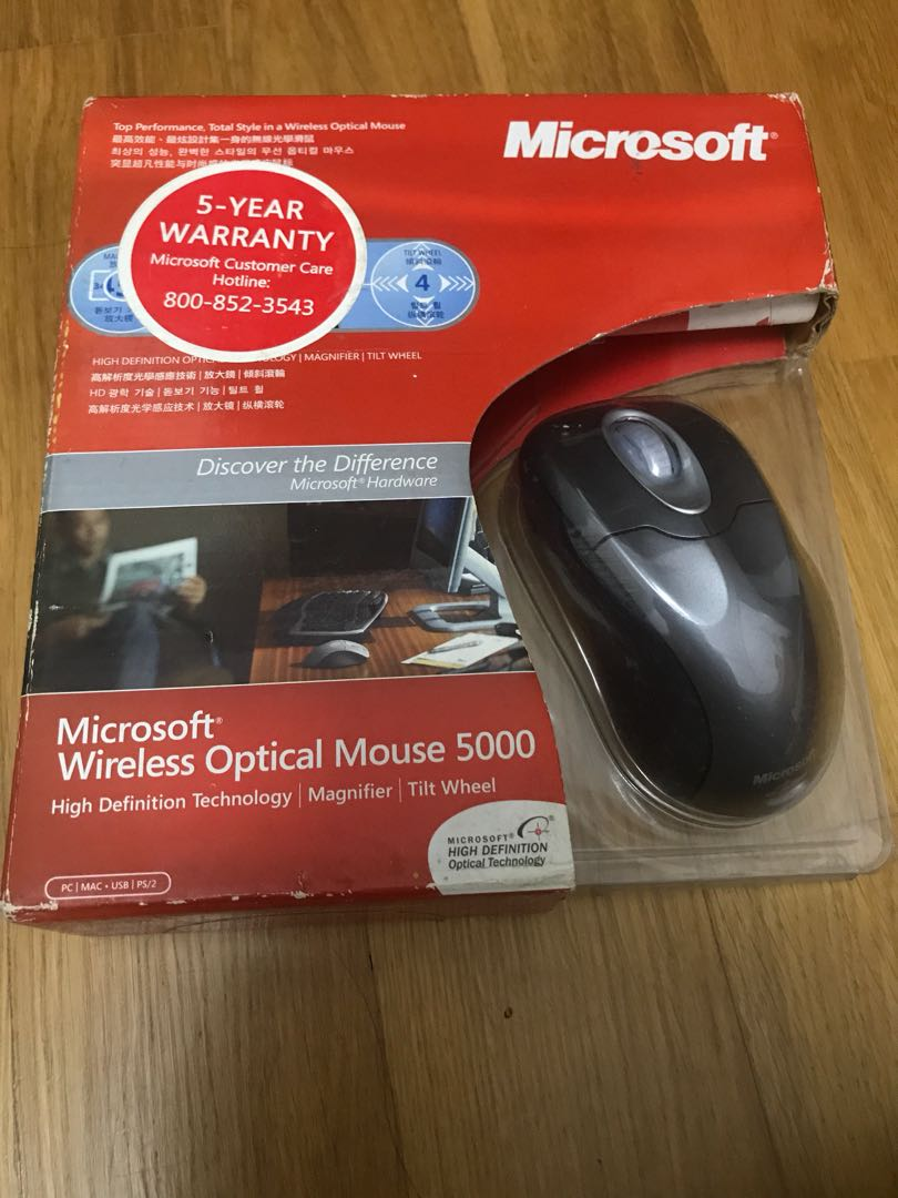 Microsoft Wireless Optical Mouse Electronics Computer Parts 3600 Bluetooth Mobile Red Accessories On Carousell