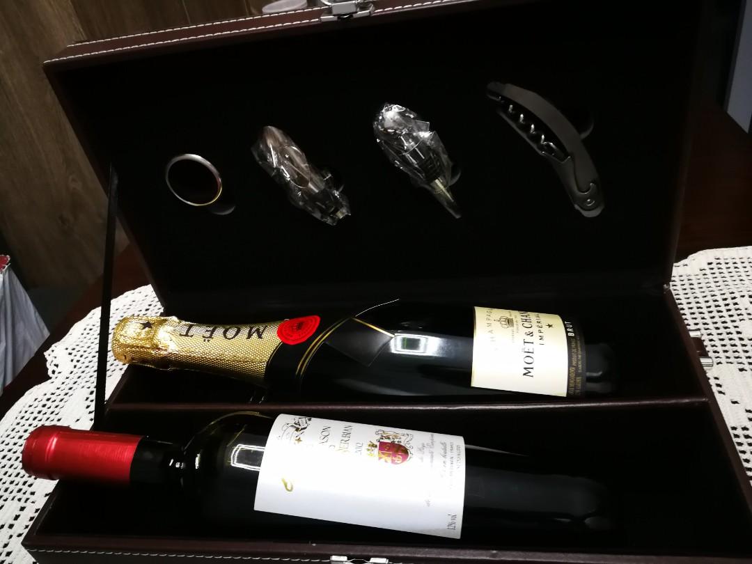 Moet Imperial Brut Champagne + Blason De La Serbian Gift set, Food & Drinks, Beverages on Carousell