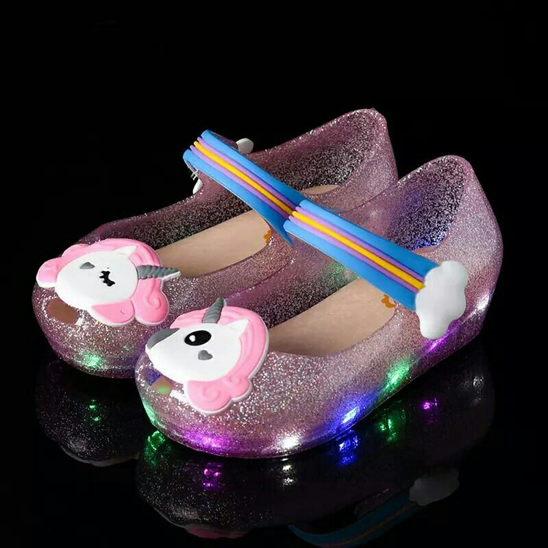 5e5c4041a080f6 New Unicorn Jelly Fish Head Incense Children Girls Shoes Sandals ...