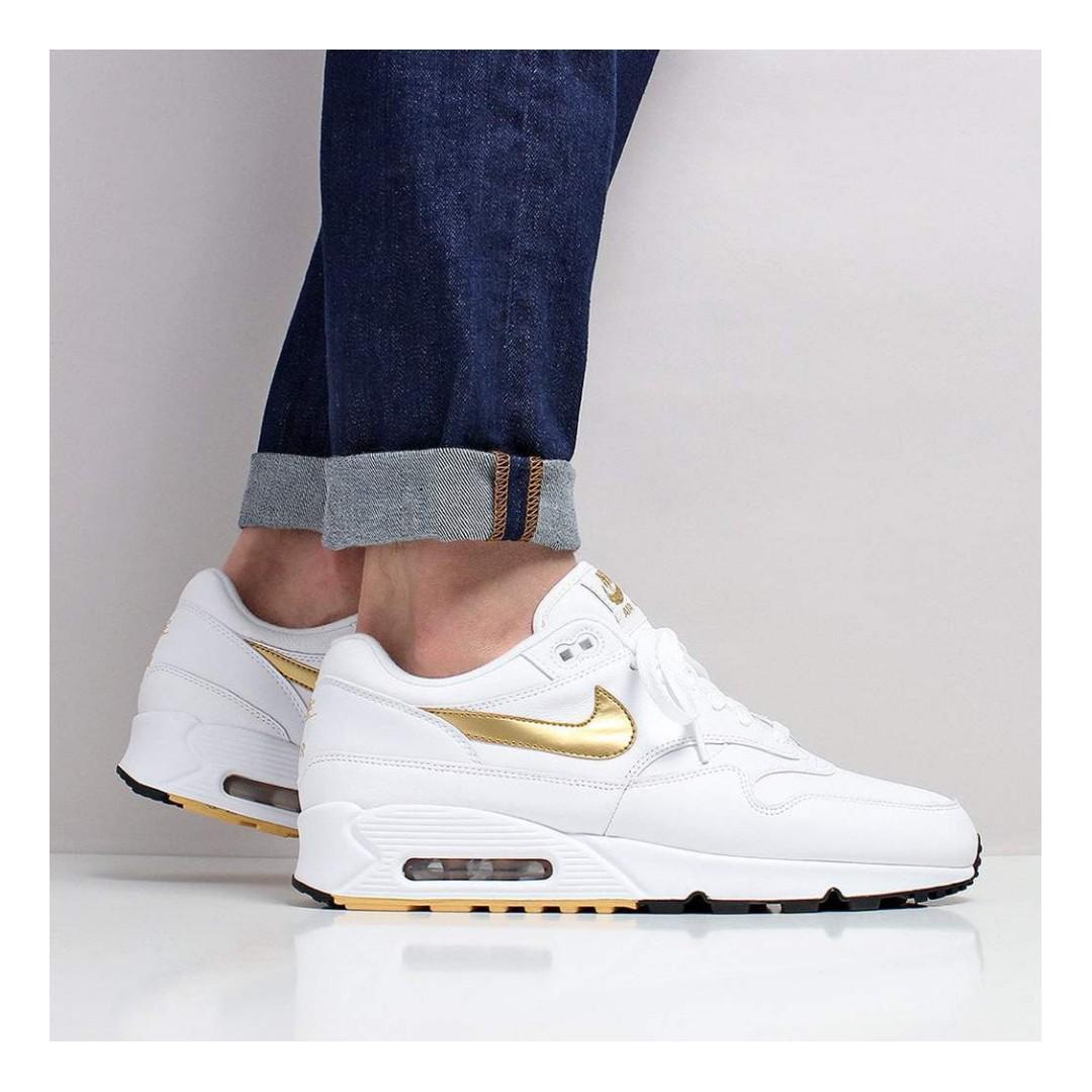 Nike Air Max 901 Shoes – WhiteMetallic GoldBlack, Men's