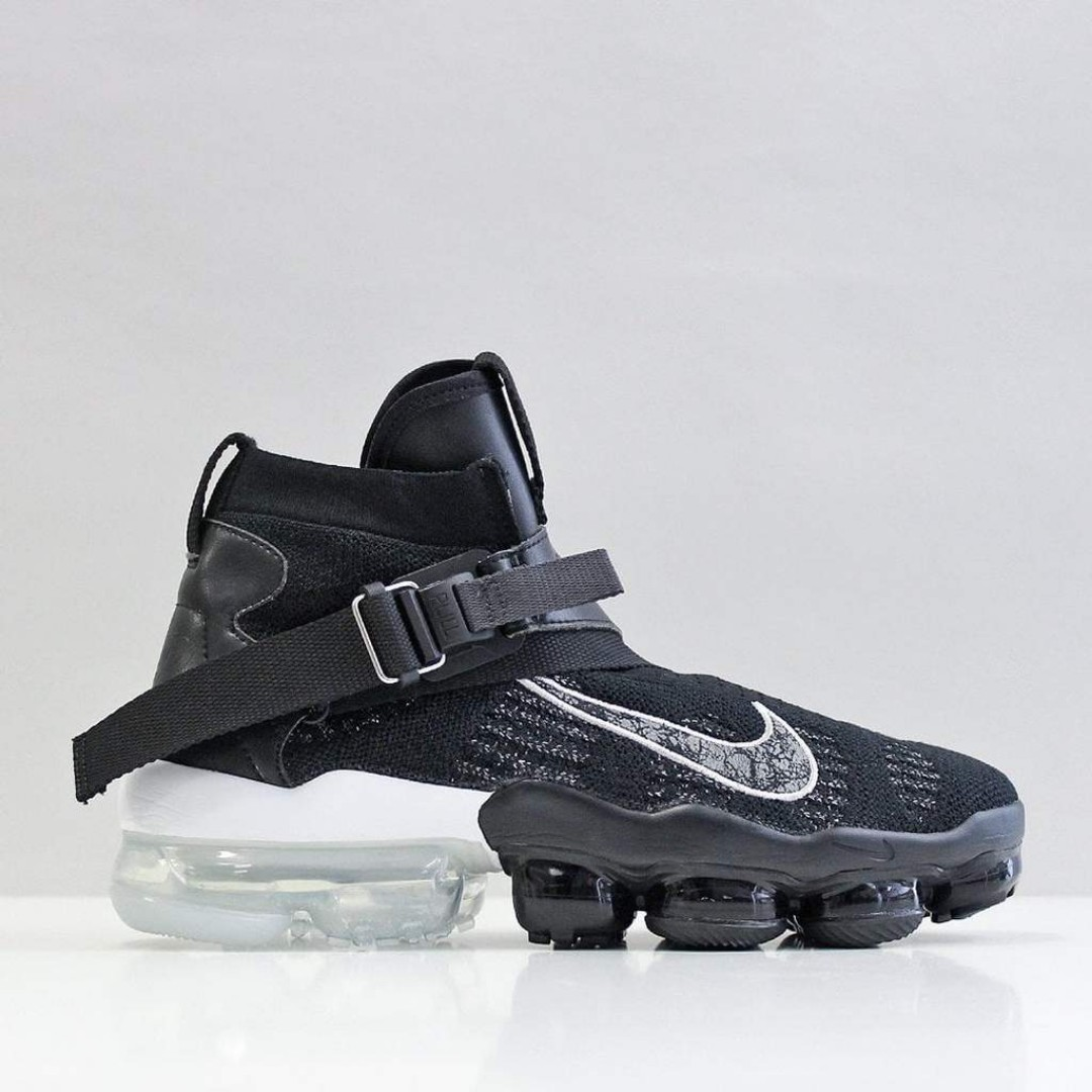49f7093751 Nike Vapormax Premier Flyknit Shoes – Black/Metallic Silver ...