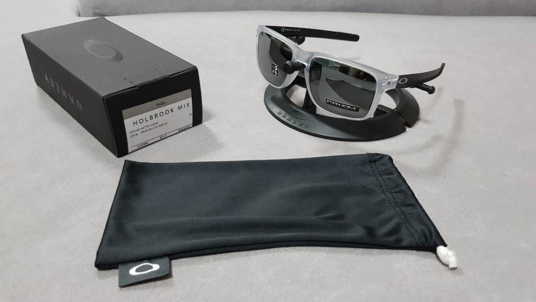 b97f1362297 Oakley holbrook mix matte clear frame prizm black iridium lens ...