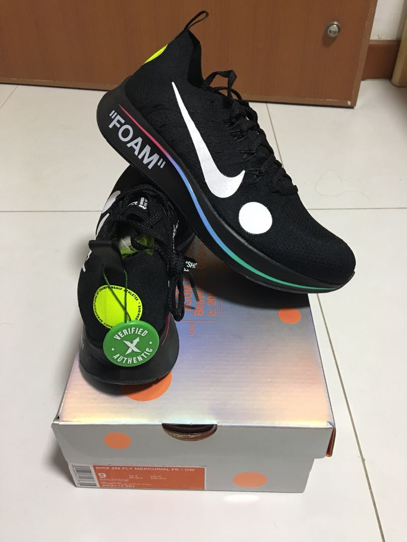 556bc2a9fcf6 Off White Zoom Fly Mercurial (Black)
