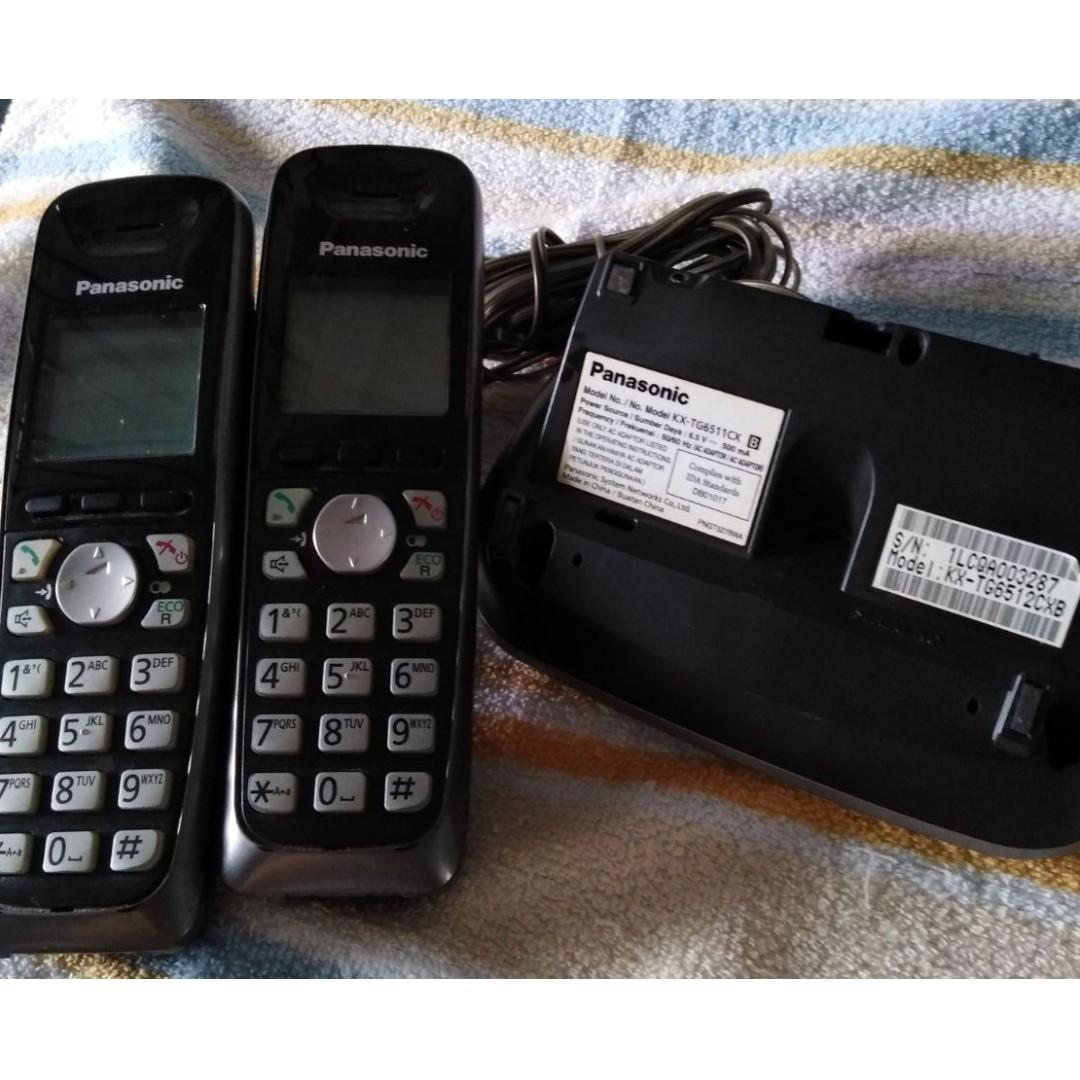 e6d0b58f8bb7 Panasonic Brand Twin Cordless Handset Phones, Electronics, Others on ...