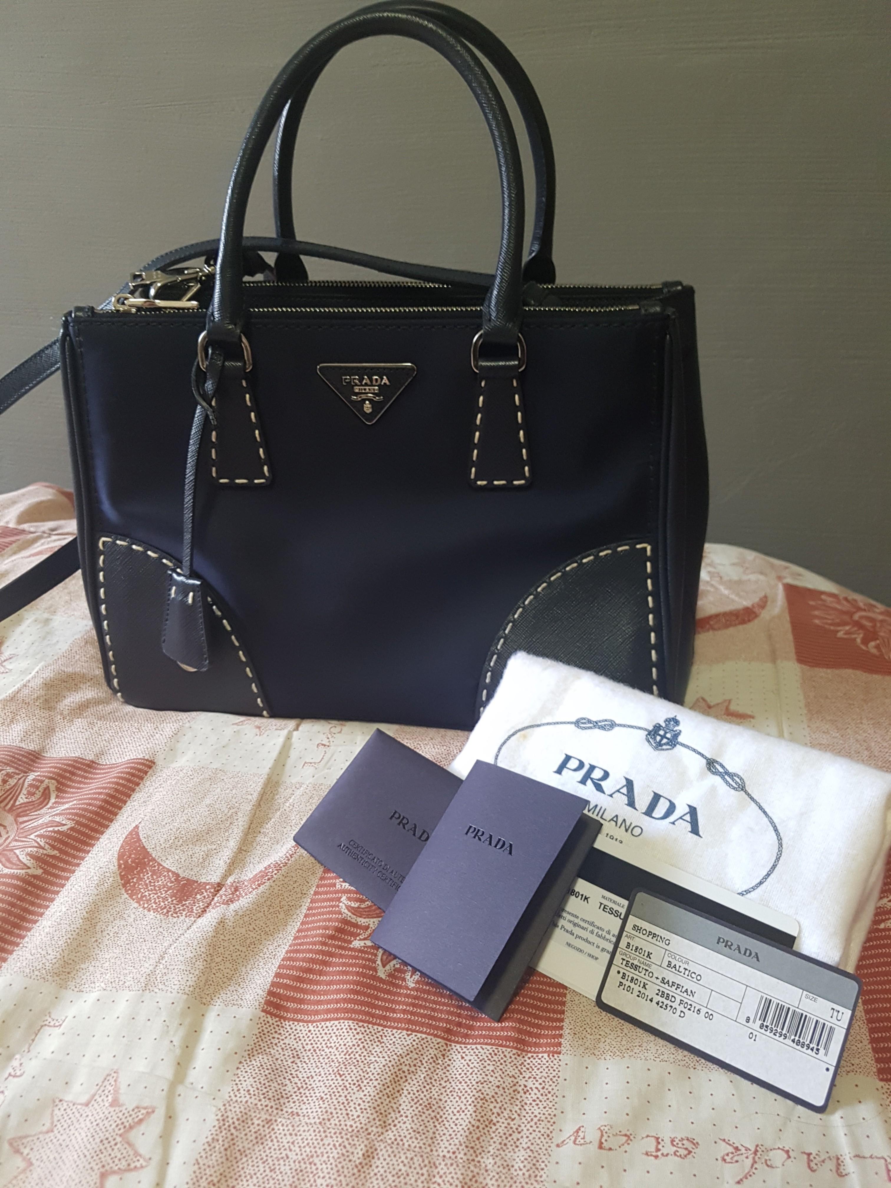 887d37997d2 Prada B1801K Tessuto + Saffiano Bag, Luxury, Bags   Wallets, Handbags on  Carousell