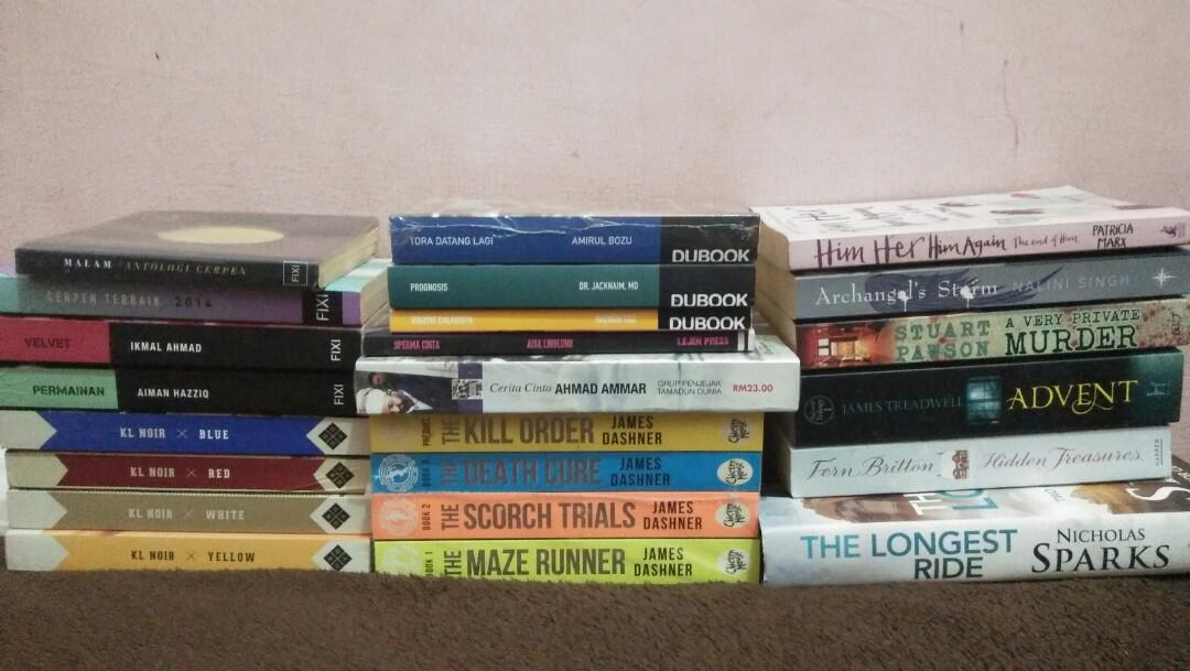 [preloved & new] Buku fixi, dubook, lejen press & others