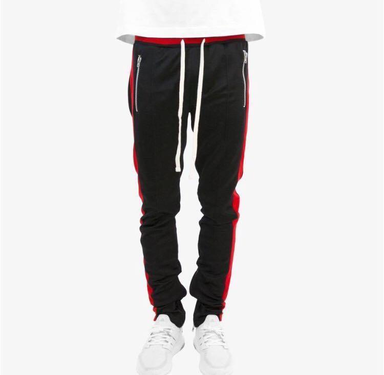 bced4c44f33 PRICE DROP Mnml red stripe track pants