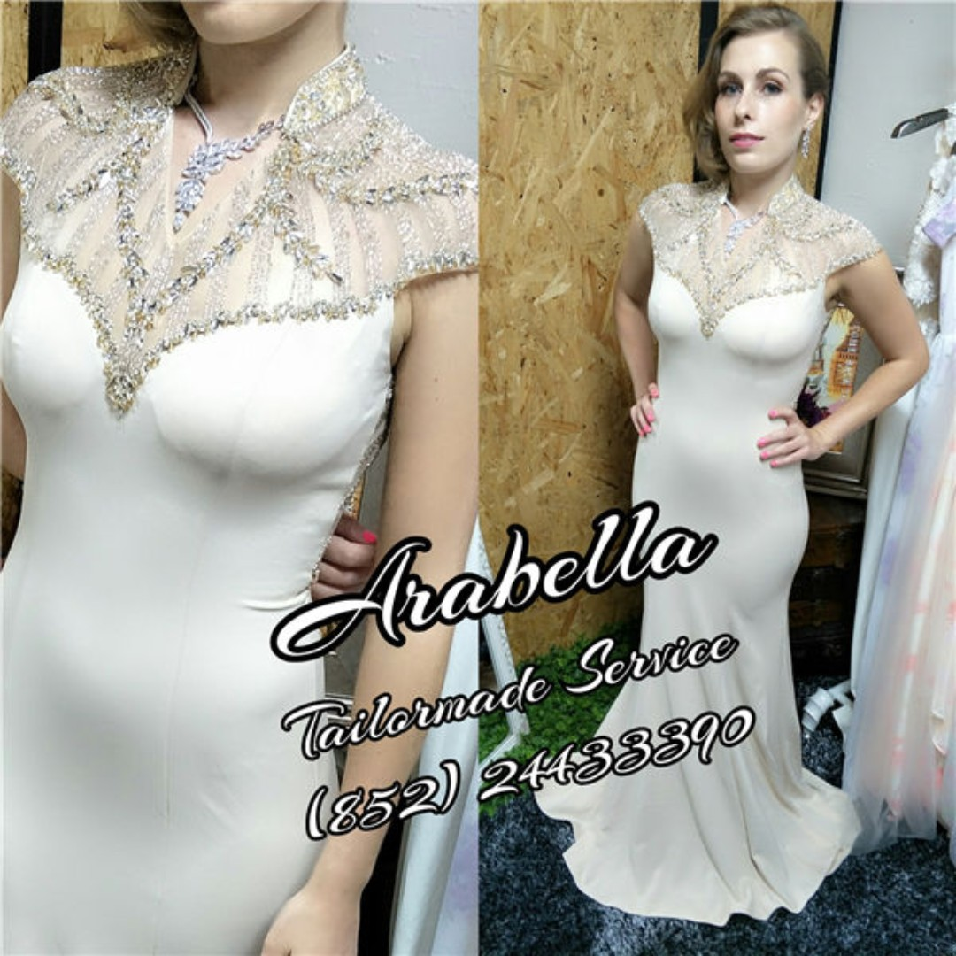 178225c3733 Sample sales wedding gown bridal night wear evening dress prom party ...