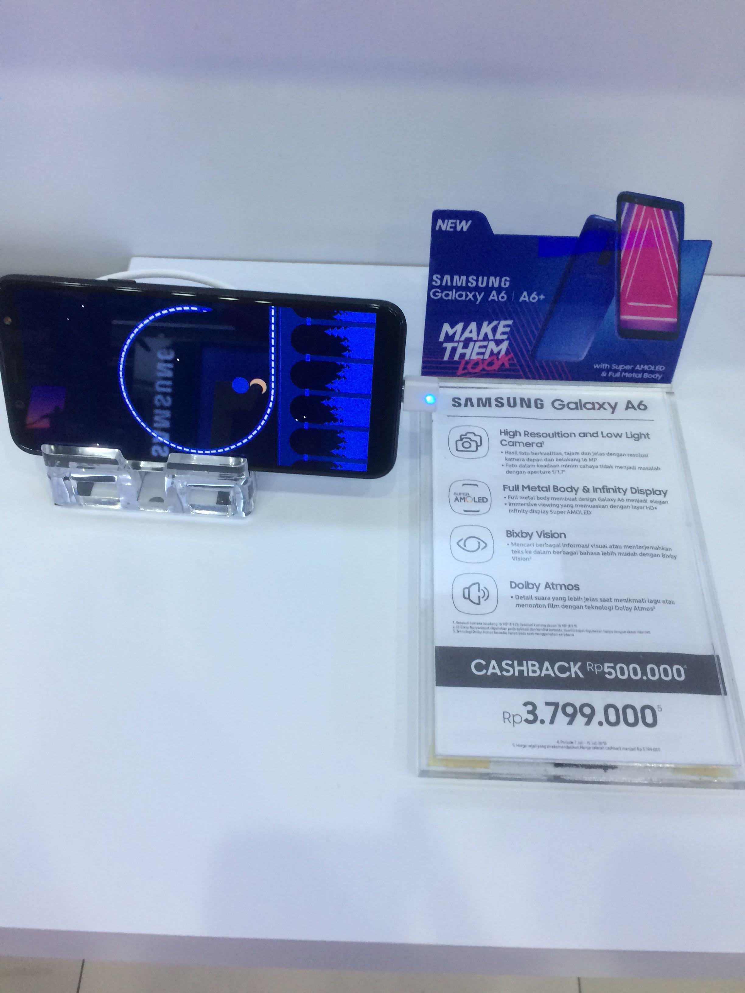 Samsung Galaxy A6 Promo Bunga 0 99 Untuk Tenor 10blnnya Mobile