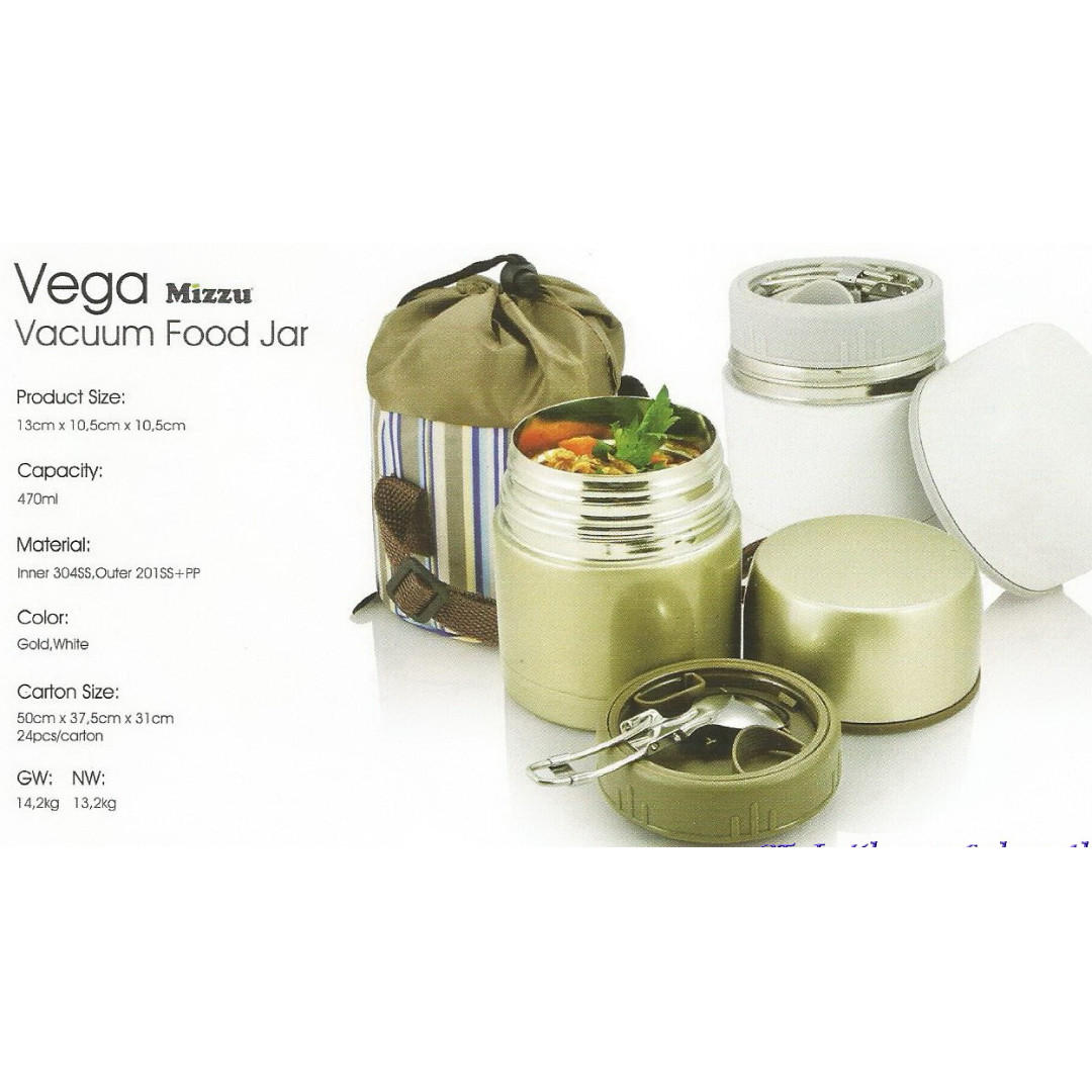 Souvenir Vacum Food Jar Stainless VEGA