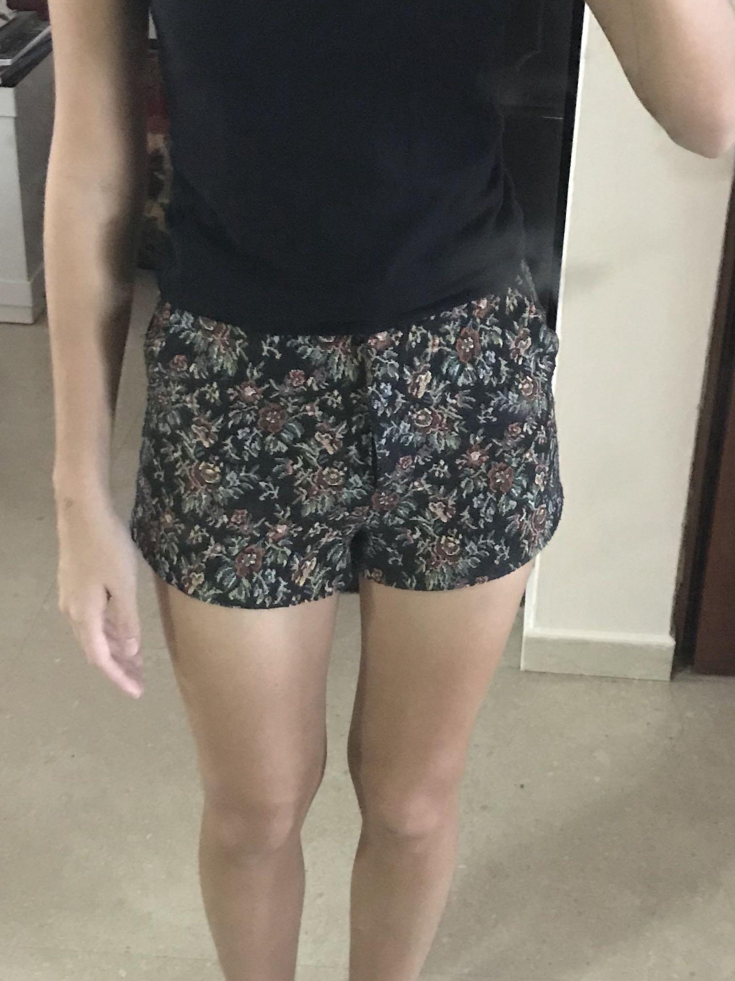 topshop flower shorts