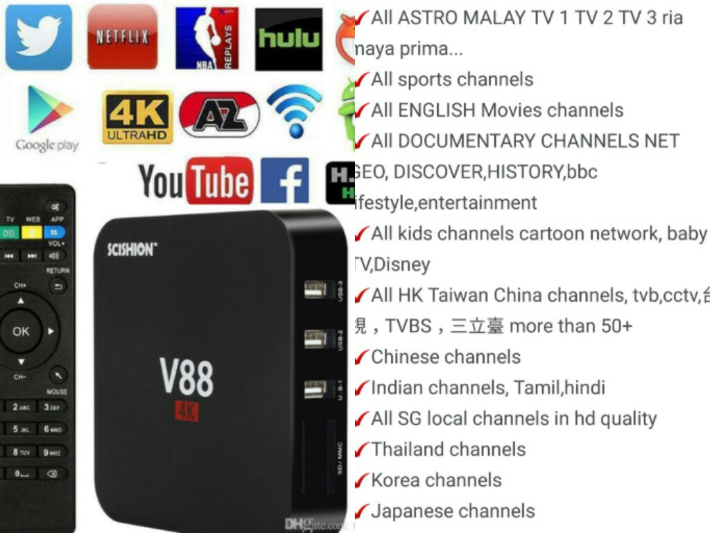 V88 Box One Time Payment Build In Full Premium Astro,Movies