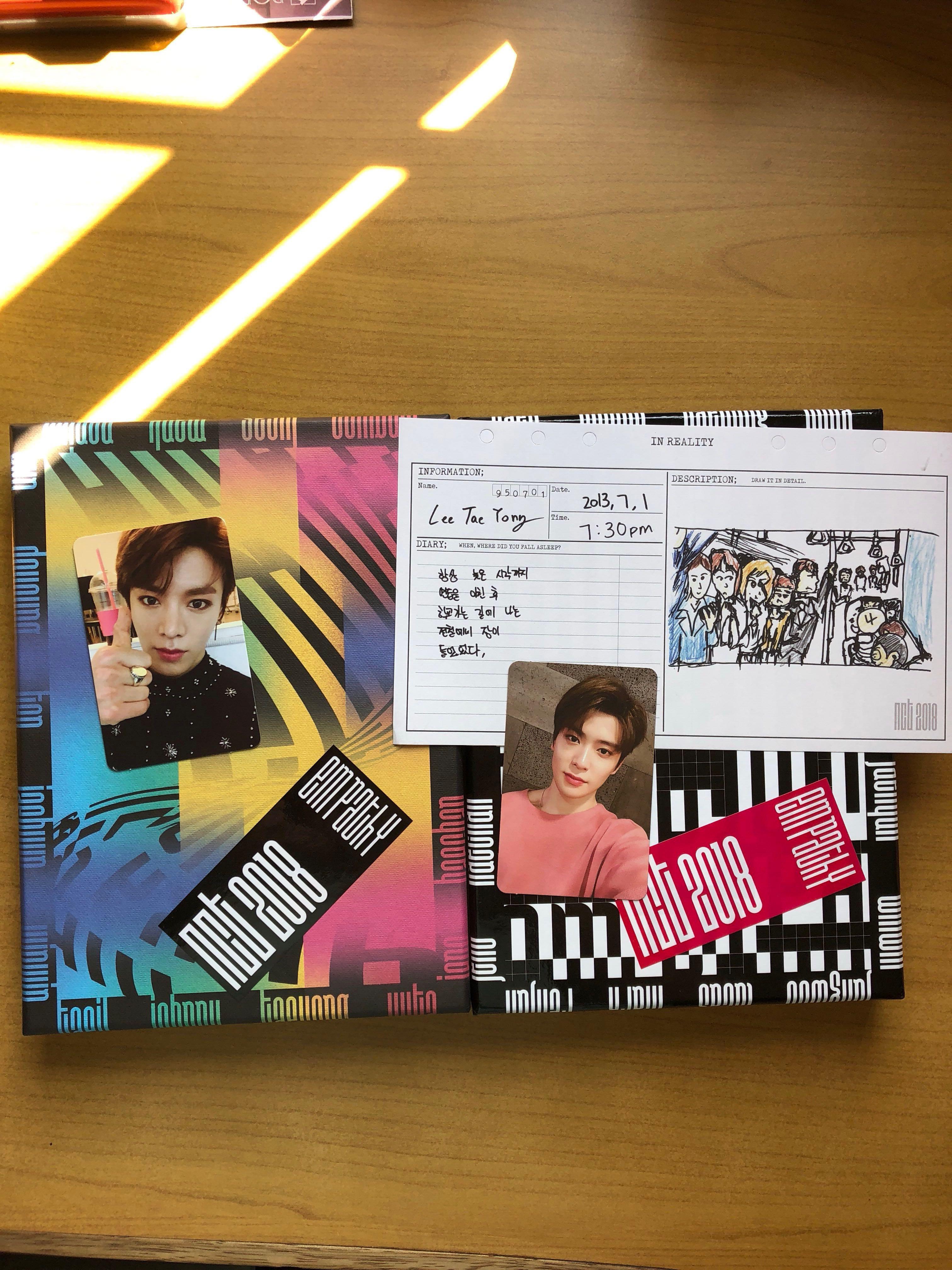 WTT NCT 2018 EMPATHY ALBUM PC AND DIARY, Entertainment, K