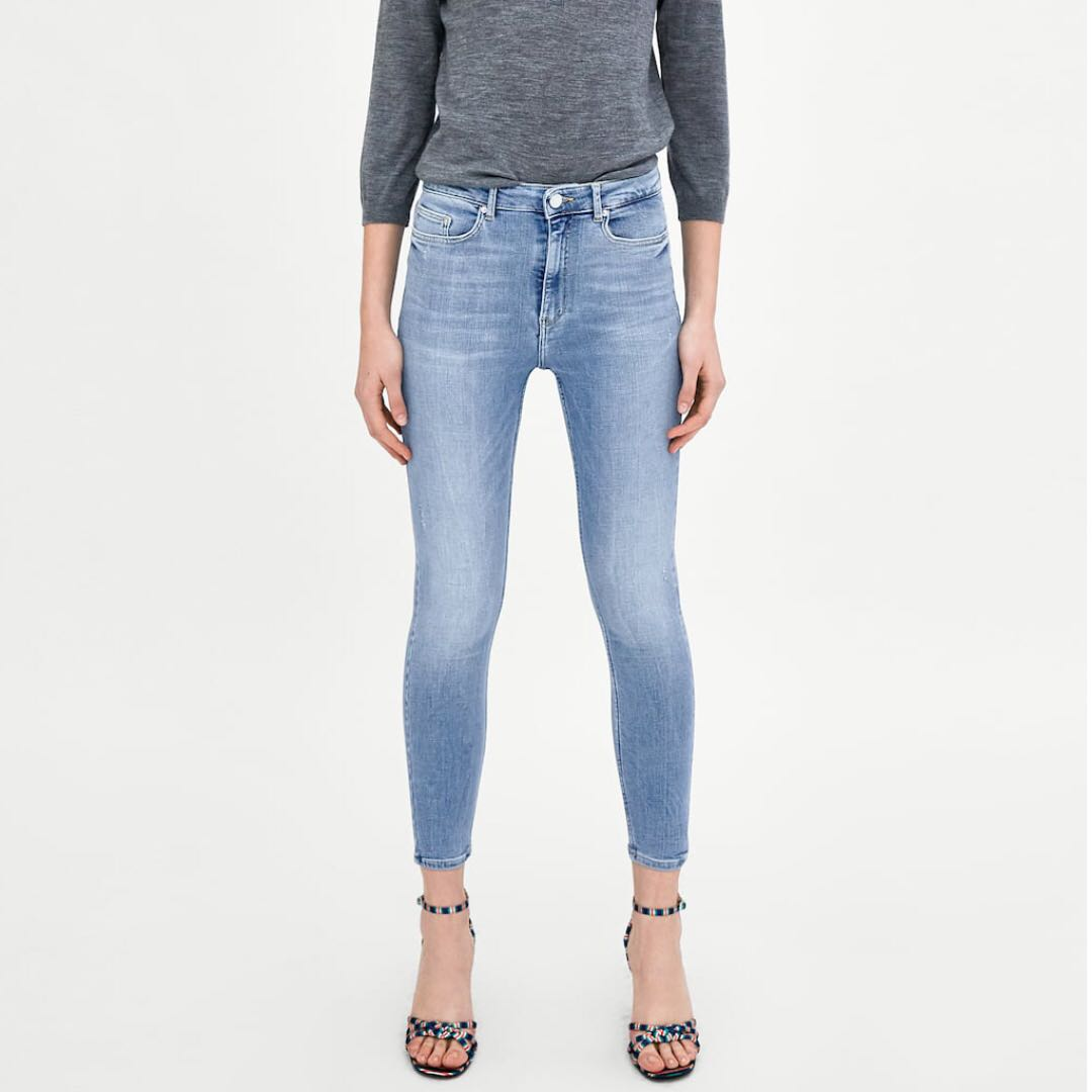5ca0537f Zara Trafaluc Denim Collection High Waisted Skinny Jeans, Women's Fashion,  Clothes, Bottoms on Carousell