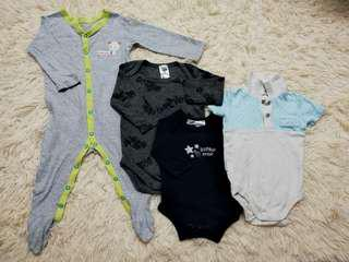 Baby boy sleepsuit & rompers set (3-12m)