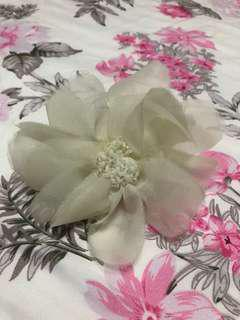 White Flower Rubber Band