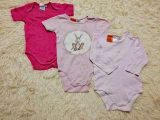 Baby girl rompers set (6-12m)