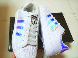 [LAST INSTOCK] Adidas Superstar Hologram Holographic Iridescent Shoes (BNIB)