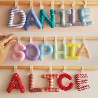 Handmade Baby Name Banner