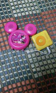 vintage mp3(sdcard mp3 player) with disney Coca-Cola speakers