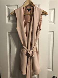 Topshop pink vest with belt
