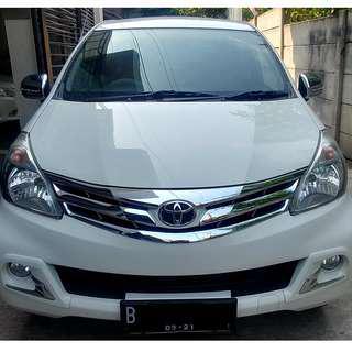 Toyota Avanza 2014 1.3 G AT 2014 Putih White - Pajak 08 - 2019
