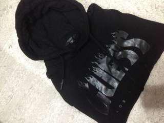 guess flame logo hoodie