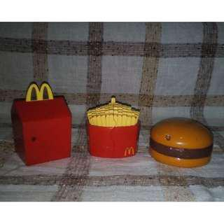 McDonald's Happy Meal Happy Meal Box Fries and Burger Set