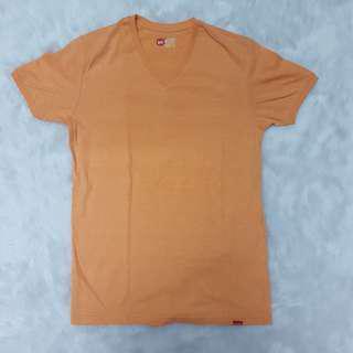 Bench Orange Pastel V-Neck T-shirt Top